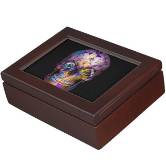Amazing Floral Skull A Keepsake Box