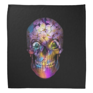 Amazing Floral Skull A Kerchief