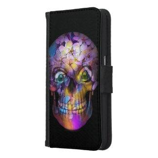 Amazing Floral Skull A Samsung Galaxy S6 Wallet Case