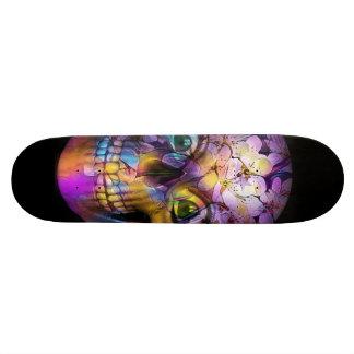 Amazing Floral Skull A Skateboard Deck