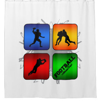Amazing Football Urban Style Shower Curtain
