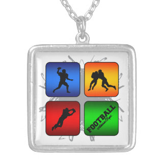 Amazing Football Urban Style Silver Plated Necklace