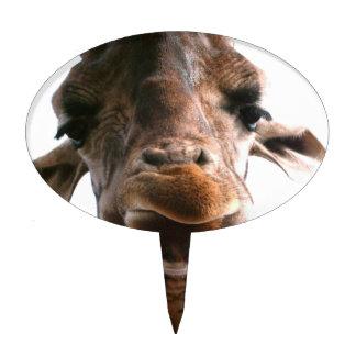 Amazing giraffe head what could be more fun cake pick