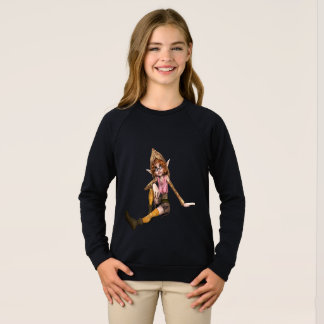 Amazing Girls'  Raglan Sweatshirt In Elf Design