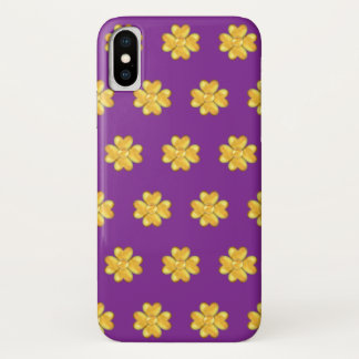 Amazing golden clovers iPhone x case