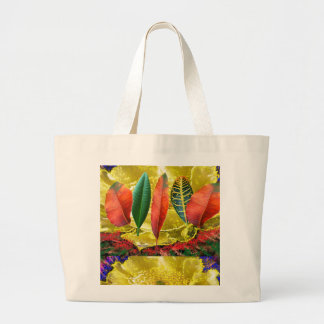 AMAZING Golden Flower n Leaf Pattern Bags