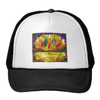 AMAZING Golden Flower n Leaf Pattern Hat