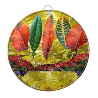 AMAZING Golden Flower n Leaf Pattern Dartboards