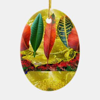 AMAZING Golden Flower n Leaf Pattern Christmas Ornament