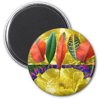 AMAZING Golden Flower n Leaf Pattern Fridge Magnets