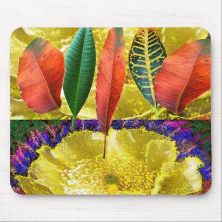 AMAZING Golden Flower n Leaf Pattern Mousepads