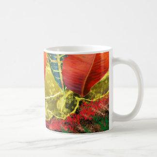 AMAZING Golden Flower n Leaf Pattern Coffee Mugs