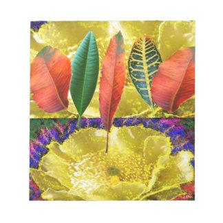 AMAZING Golden Flower n Leaf Pattern Scratch Pad