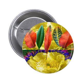 AMAZING Golden Flower n Leaf Pattern Pins