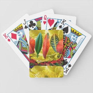 AMAZING Golden Flower n Leaf Pattern Deck Of Cards