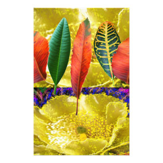 AMAZING Golden Flower n Leaf Pattern Customized Stationery