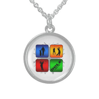 Amazing Golf Urban Style Sterling Silver Necklace