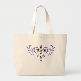 Amazing grace cross love wings heart Bag 
