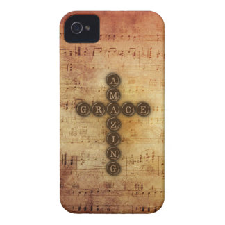 Amazing Grace Cross on Vintage Sheet Music iPhone 4 Covers