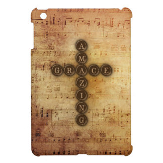 Amazing Grace Cross Vintage Musical Hymn Notes Cover For The iPad Mini