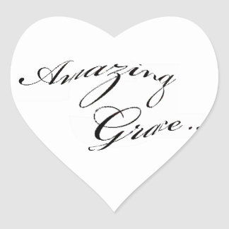 Amazing Grace Heart Sticker