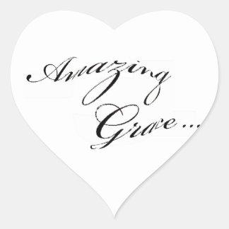 Amazing Grace Heart Sticker