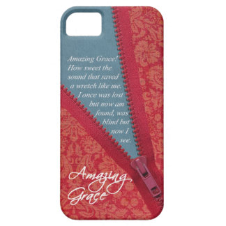 Amazing Grace Hymn - Red Floral Zipper Pull Design iPhone 5 Covers