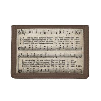 Amazing Grace Vintage Hymn Sheet Music Wallet
