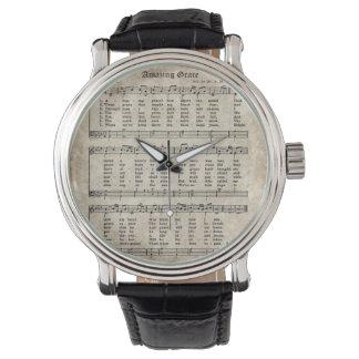 Amazing Grace Vintage Hymn Sheet Music Watch