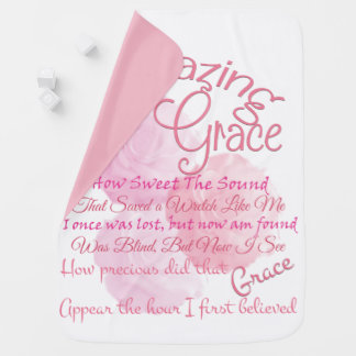 Amazing Grace With Beautiful Pink Roses Baby Blanket