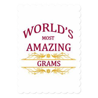 Amazing Grams 13 Cm X 18 Cm Invitation Card