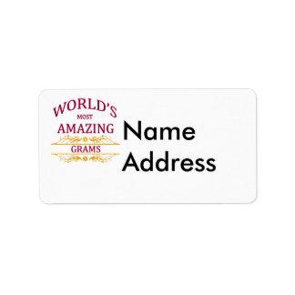 Amazing Grams Address Label