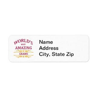 Amazing Grams Return Address Label