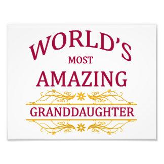 Amazing Granddaughter Photo Print