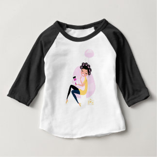Amazing hand-drawn Beauty girl illustration Baby T-Shirt