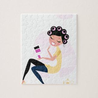 Amazing hand-drawn Beauty girl illustration Jigsaw Puzzle