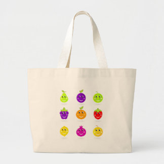 Amazing hand drawn Fruit Collection Large Tote Bag