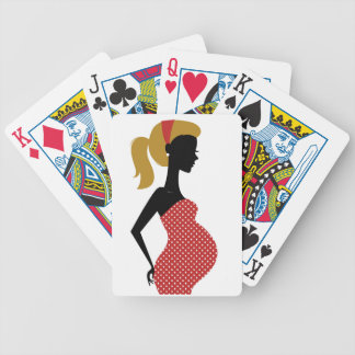 Amazing hand painted girl Red Bicycle Playing Cards