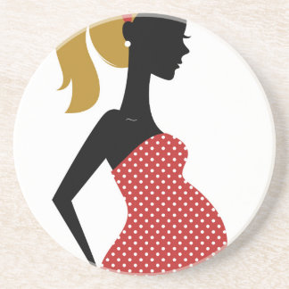 Amazing hand painted girl Red Coaster