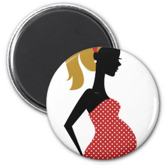 Amazing hand painted girl Red Magnet