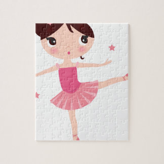 Amazing hand painted Pink balerina Jigsaw Puzzle
