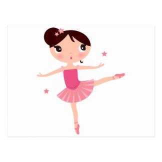 Amazing hand painted Pink balerina Postcard