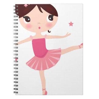 Amazing hand painted Pink balerina Spiral Notebook