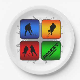 Amazing Hockey Urban Style 9 Inch Paper Plate