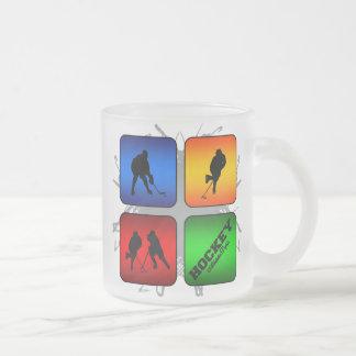 Amazing Hockey Urban Style Frosted Glass Coffee Mug