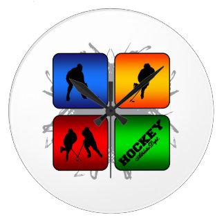 Amazing Hockey Urban Style Large Clock