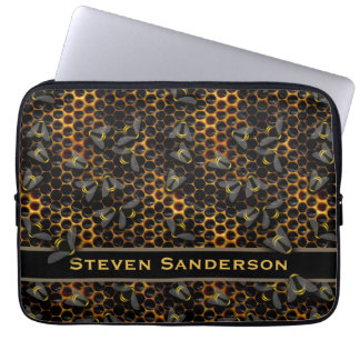 Amazing Honeycomb with Bumble Honey Bees Beehive Laptop Sleeve