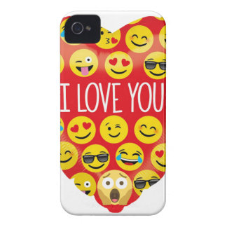 Amazing I love you Emoji Gift Case-Mate iPhone 4 Cases