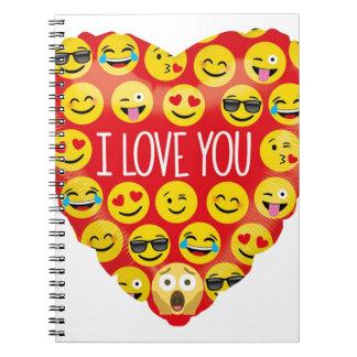 Amazing I love you Emoji Gift Notebook