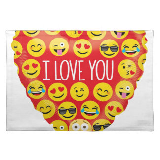 Amazing I love you Emoji Gift Placemat